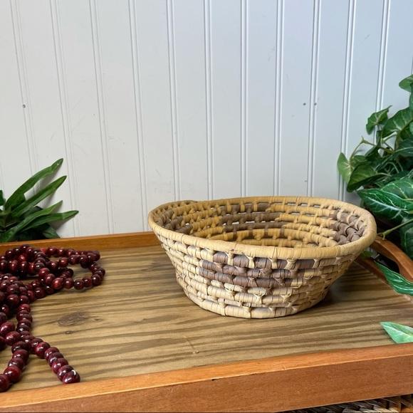 Vintage Rustic Coiled Basket